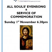 All Souls' Evensong and Service of Commemoration 1st Nov 2015