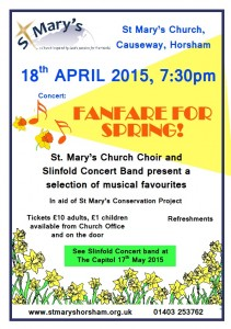 St Mary's Choir Fanfare for Spring Concert 180415