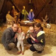 Family at the crib