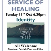 Healing Service 11th Oct 2015 6.30pm