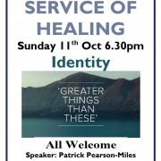 Healing Service 11th Oct 2015 6.30pm